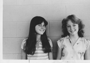 """Laverne & Shirley,"" in eighth grade. We were up for ""Best Friends"" for the yearbook, but didn't win. What did they know? I wonder if Kim & Missy, the girls who won, are still B.F.F.'s?"